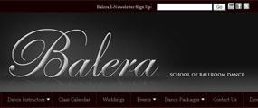 John Potter Designs Web Design for BaleraBallroom.com